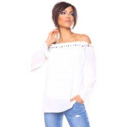 """Bluzki, topy, tuniki: Bluzka """"Perle"""" w kolorze białym"""