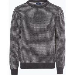 Gant - Sweter męski, szary. Szare swetry klasyczne męskie marki GANT, l, z bawełny, z klasycznym kołnierzykiem. Za 589,95 zł.