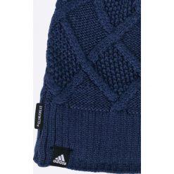 Adidas Performance - Czapka. Niebieskie czapki zimowe damskie marki adidas Performance, na zimę, z dzianiny. W wyprzedaży za 79,90 zł.
