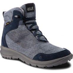 Trekkingi JACK WOLFSKIN - Seven Wonders Texapore Mid W 4031781  Night Blue. Czarne buty trekkingowe damskie marki Jack Wolfskin, w paski, z materiału. W wyprzedaży za 449,00 zł.
