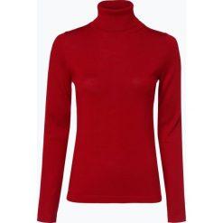 Brookshire - Sweter damski z domieszką wełny merino, czerwony. Czarne swetry klasyczne damskie marki brookshire, m, w paski, z dżerseju. Za 179,95 zł.