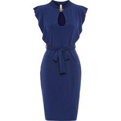 Sukienki: Sukienka z dekoracyjnym zapięciem bonprix kobaltowy