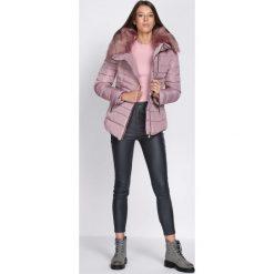 Różowa Kurtka Make the Grade. Brązowe kurtki damskie pikowane marki QUECHUA, na zimę, m, z materiału. Za 169,99 zł.