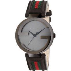 ZEGAREK GUCCI INTERLOCKING YA133206. Czarne zegarki damskie marki KALENJI, ze stali. Za 5440,00 zł.