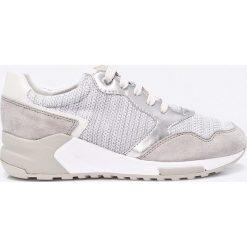 Geox - Buty. Szare buty sportowe damskie marki Geox, z materiału. W wyprzedaży za 299,90 zł.