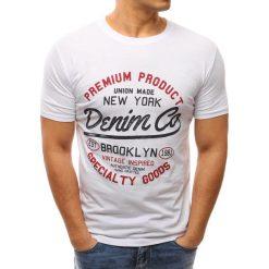 T-shirty męskie z nadrukiem: T-shirt męski z nadrukiem biały (rx2616)