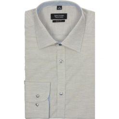 Koszula bexley 2341 długi rękaw slim fit beż. Szare koszule męskie na spinki marki Recman, m, z długim rękawem. Za 29,99 zł.
