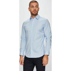Jack & Jones - Koszula. Szare koszule męskie na spinki Jack & Jones, l, z bawełny, z klasycznym kołnierzykiem, z długim rękawem. W wyprzedaży za 89,90 zł.