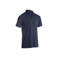 Koszulka polo do golfa 500 męska. Niebieskie koszulki polo INESIS, l, z bawełny. W wyprzedaży za 29,99 zł.