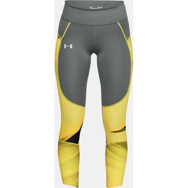 52d356baae63ff Under Armour Legginsy damskie UA Speedpocket Run Printed Crop szaro ...