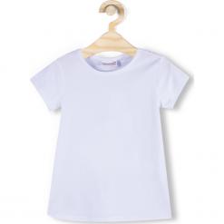 Koszulka. Białe bluzki dziewczęce bawełniane marki GYMNASTIC, z krótkim rękawem. Za 29,90 zł.
