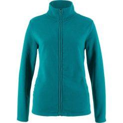 Bluza rozpinana z polaru z wpuszczanymi kieszeniami bonprix kobaltowo-turkusowy. Niebieskie bluzy polarowe marki bonprix. Za 44,99 zł.