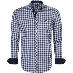 """Koszule męskie na spinki: Koszula """"Pau"""" w kolorze granatowo-białym"""