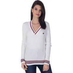 """Swetry klasyczne damskie: Sweter """"Ball"""" w kolorze kremowym"""