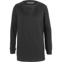 Bluza rozpinana ciążowa i do karmienia piersią bonprix czarny. Niebieskie bluzy ciążowe marki bonprix, z materiału, z dekoltem w serek. Za 79,99 zł.