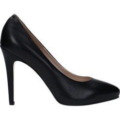 Czółenka LILIA PLATO. Czarne buty ślubne damskie Gino Rossi, ze skóry. Za 199,90 zł.
