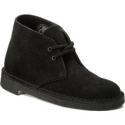 Botki CLARKS - Desert Boot. 261071624 Black. Czarne botki damskie skórzane marki Clarks. W wyprzedaży za 329,00 zł.