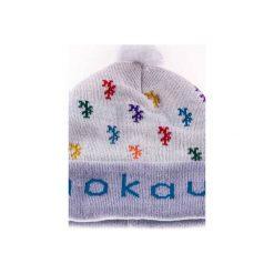 Czapka zimowa monogram Biała. Białe czapki zimowe damskie Nokaut costume, na zimę. Za 45,00 zł.