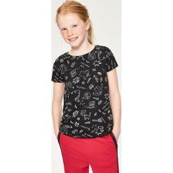 T-shirt we wzory - Czarny - 2