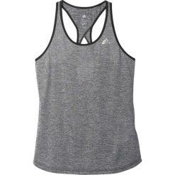 Adidas Koszulka Keyhole Tank srebrna r. S. Szare topy sportowe damskie marki Adidas, l, z dresówki, na jogę i pilates. Za 96,00 zł.