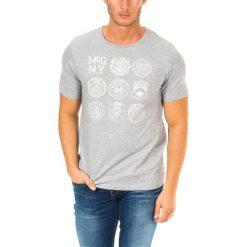 T-shirty męskie z nadrukiem: T-shirt w kolorze szarym