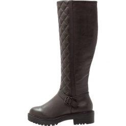 Buty zimowe damskie: New Look Wide Fit WIDE FIT CUILT Kozaki na platformie black