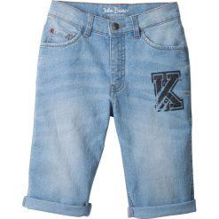 """Jeansy dziewczęce: Bermudy dżinsowe z wywiniętymi nogawkami bonprix niebieski """"bleached"""""""