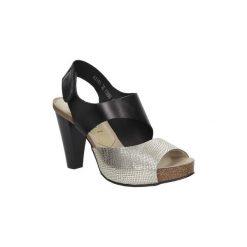Rzymianki damskie: Sandały Nessi  Sandały skórzane na słupku  42103