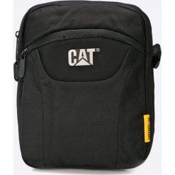 Caterpillar - Saszetka. Czarne torby na laptopa marki Caterpillar, w paski, z materiału. W wyprzedaży za 79,90 zł.
