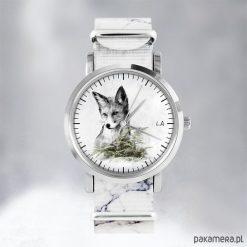 Zegarki męskie: Zegarek - Lis - marmurkowy, nato