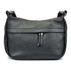 Torebki klasyczne damskie: Skórzana torebka w kolorze czarnym – (S)22 x (W)36 x (G)12 cm