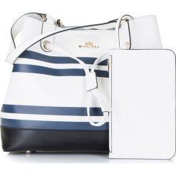Torebka damska 86-4E-418-X01. Białe torebki klasyczne damskie Wittchen, w paski. Za 359,00 zł.