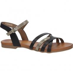Czarne letnie sandały płaskie Casu K18X7/B. Czarne sandały damskie Casu, na płaskiej podeszwie. Za 39,99 zł.