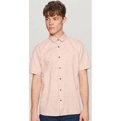 Koszule męskie na spinki: Koszula z krótkim rękawem – Różowy