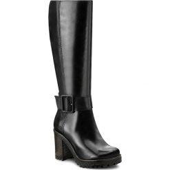 Kozaki SIMEN - 9541 Sandro 04. Czarne buty zimowe damskie marki Kazar, ze skóry, przed kolano, na wysokim obcasie, na obcasie. W wyprzedaży za 349,00 zł.