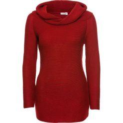 """Sweter z dekoltem """"carmen"""" bonprix czerwony. Czerwone swetry klasyczne damskie bonprix, z kołnierzem typu carmen. Za 89,99 zł."""