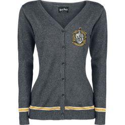 Kardigany damskie: Harry Potter Hufflepuff Crest Kardigan damski odcienie szarego