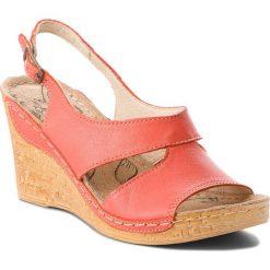 Sandały damskie: Sandały ŁUKBUT – 556 Koral