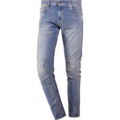 7 for all mankind RONNIE WITH SPOTS UPRISING Jeansy Slim Fit blue. Niebieskie jeansy męskie regular 7 for all mankind, z bawełny. Za 1009,00 zł.