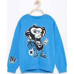 Bluzy chłopięce: Bluza z małpą – Turkusowy