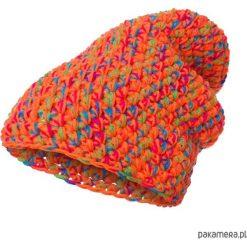 Czapka dziana KRAFF ORANGE handmade. Pomarańczowe czapki damskie Pakamera, z dzianiny. Za 99,00 zł.