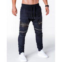 SPODNIE MĘSKIE JOGGERY P708 - GRANATOWE. Niebieskie joggery męskie Ombre Clothing. Za 79,00 zł.