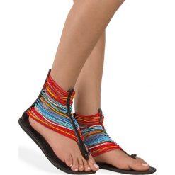 Rzymianki damskie: Sandały skórzane Gladiatorki Maasai Craftmano