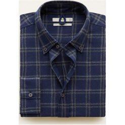 Mango Man - Koszula Tai. Szare koszule męskie na spinki marki S.Oliver, l, z bawełny, z włoskim kołnierzykiem, z długim rękawem. Za 199,90 zł.
