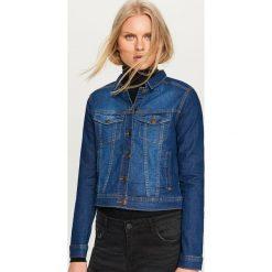 Jeansowa kurtka - Niebieski. Niebieskie kurtki damskie jeansowe Reserved. Za 99,99 zł.