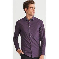 Odzież: Koszula w kropki SLIM FIT - Fioletowy