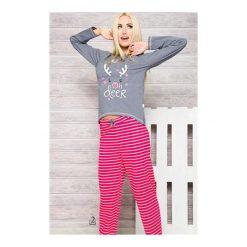 Bielizna damska: Piżama 1193 Oda AW/17 K2 Szaro-różowa (fuksja)
