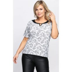 Biały T-shirt Mould. Białe bluzki damskie Born2be, m. Za 19,99 zł.