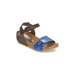 Sandały Dziecko  Kickers  BOMBOM. Niebieskie sandały dziewczęce marki Kickers, z kauczuku, na sznurówki. Za 202,30 zł.