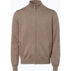 Fynch Hatton - Kardigan męski, beżowy. Brązowe swetry rozpinane męskie Fynch-Hatton, m, z bawełny, eleganckie, z klasycznym kołnierzykiem. Za 299,95 zł.